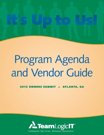 Onsite Program Agenda and Vendor Guide - Franchise services Inc.