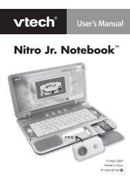 Nitro Junior Notebook - Manual - VTech