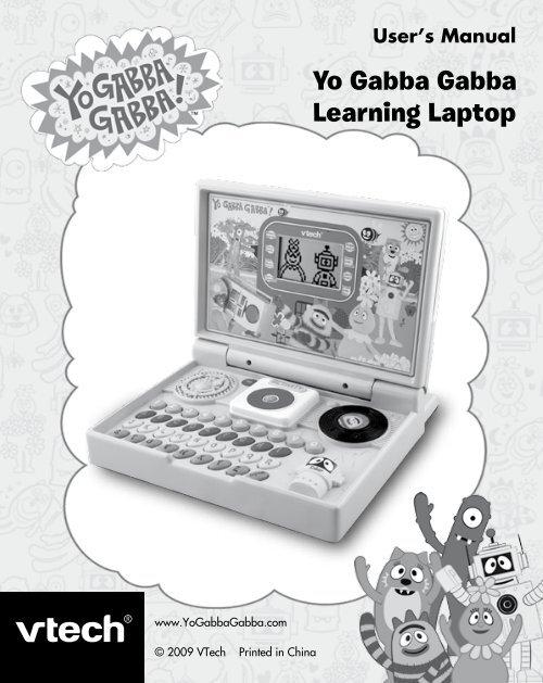 Yo Gabba Gabba Learning Laptop - Manual - VTech