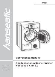 Gebrauchsanleitung Kondensationswäschetrockner ... - Schwab