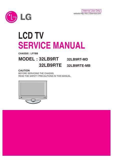 LCD TV SERVICE MANUAL - diagramas diagram
