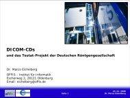 DICOM-CDs und das Testat-Projekt der DRG - Das DRG-Testatprojekt