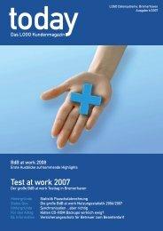 today - Das LOGO Kundenmagazin (Ausgabe 6/2007) - Betreuung.de