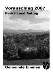 Bericht und Antrag - Gemeinde Emmen