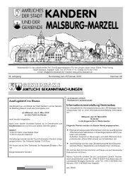 Informationsveranstaltung Gemüsebau ... - Stadt Kandern