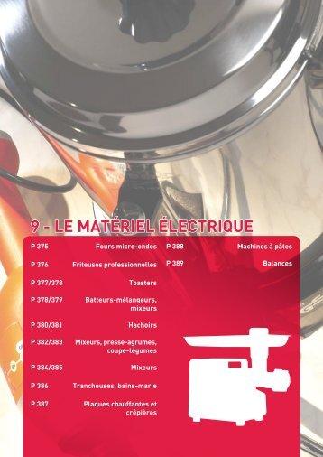 9 - LE MATÉRIEL ÉLECTRIQUE - In Situ