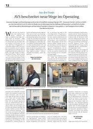 """Catering Management"" berichtet: Neue Wege im Operating - AVS ..."