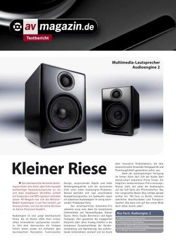 Testbericht Kleiner Riese - Audio iN