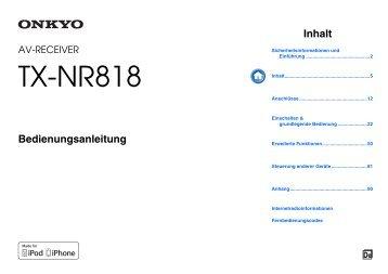 TX-NR818 - Onkyo Europe Electronics GmbH