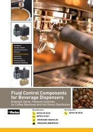 Parker Standard Magentventile in Messing für Kaffeeautomaten