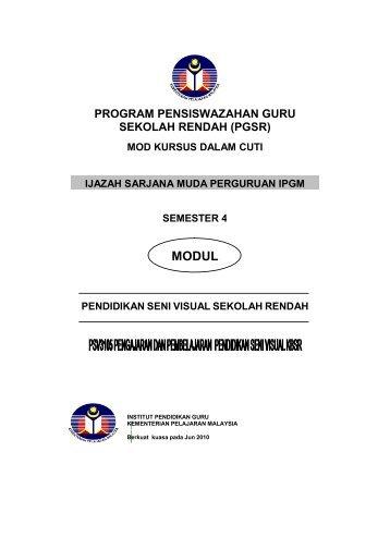 MODUL - Laman Web Rasmi IPGM Kampus Pendidikan Islam