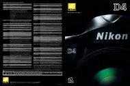 Nikon Digital SLR Camera D4 Specifications