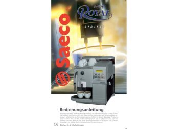royal saeco coffee machine manual
