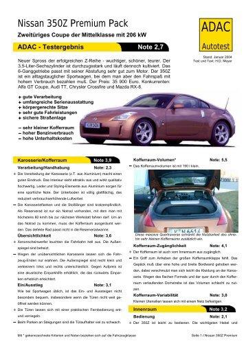 Umfassender Test Nissan 350Z Premium Pack - ADAC