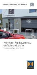 Hörmann Funksysteme, einfach und sicher - Hörmann KG