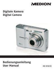Digitale Kamera Digital Camera Bedienungsanleitung ... - Medion