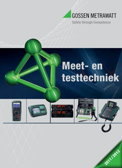 Nederlandstalige Test & Meet catalogus 2012 - GMC-Instruments