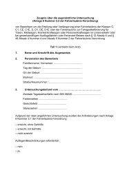 Zeugnis über die augenärztliche Untersuchung (Anlage 6 Nummer ...