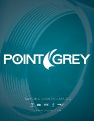 Product Catalog–Imaging - Point Grey Research