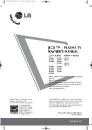 LCD TV PLASMA TV OWNER'S MANUAL - Abt