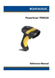 PowerScan PD8500 Product Reference Guide - Datalogic