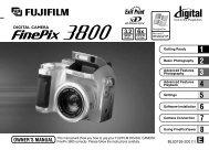 FinePix 3800 Manual