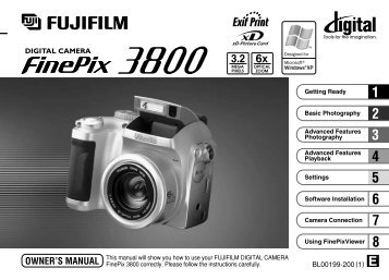 FinePix 3800 Manual