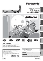 DVD Recorder - Operating Manuals for Panasonic Products ...