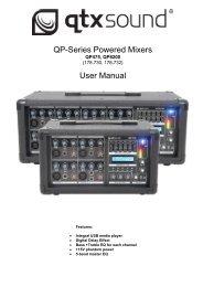 QP-Series Powered Mixers User Manual - CDN