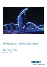 Philips Professional Lighting Solutions, Portfolio 2012, Middle East