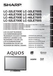 Lc-32/40/46/52le/lx/lu700e/s - Sharp
