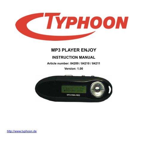TYPHOON MP3 PLAYER ENJOY 1 GB DRIVERS FOR WINDOWS 8
