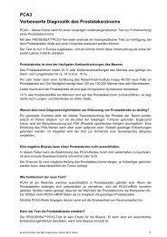 PCA3 Verbesserte Diagnostik des Prostatakarzinoms - MDI ...