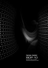BEDIENUNGSANLEITUNG - Harman Kardon