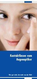 Infomaterial über Pflege von Kontaktlinsen - optik deppe optik deppe