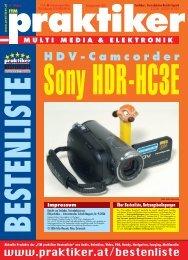 Sony HDR-HC3E: HDV-Camcorder - ITM praktiker ... - Praktiker.at