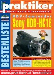 Testbericht Sony HDR-HC1E aus