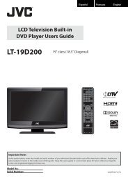 LCD Television Built-in DVD Player Users Guide - JVC