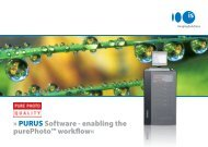 PURUS Software - enabling the purephoto ... - Imaging Solutions