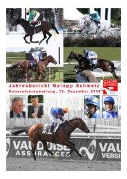 Jahresbericht Galopp Schweiz 2009 zur ... - Iena