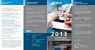 Fortbildungsflyer 2013 - des MDK Rheinland-Pfalz