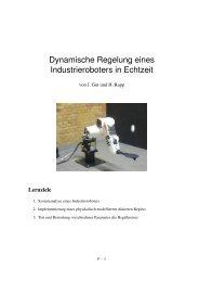 Dynamische Regelung eines Industrieroboters in Echtzeit - und ...