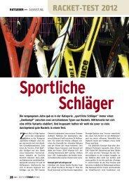 RACKET-TEST 2012 - gotennis - Erfolgreicher Tennis spielen