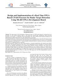 Design and Implementation of a Real Time FPGA Based CFAR ...