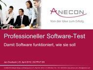 Professioneller Software-Test