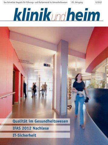 30.11.2012 Publireportage Kaffee im KSF - In: Klinik - Kreisspital für ...