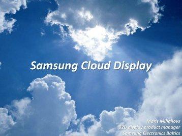 Samsung Cloud Display - Net Group
