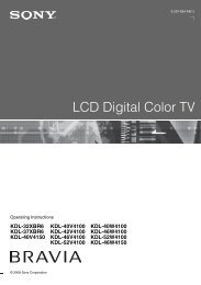 LCD Digital Color TV - Sony