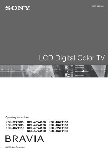 LCD Digital Color TV - Sony