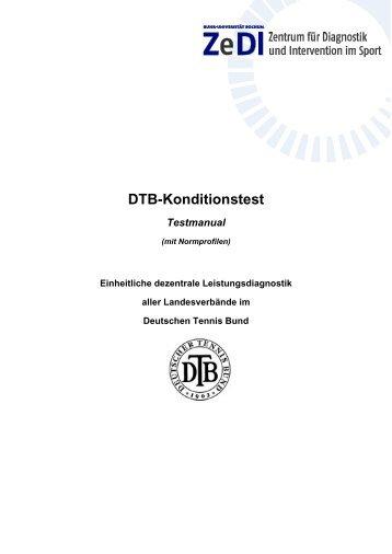 DTB-Konditionstest - Deutscher Tennis Bund
